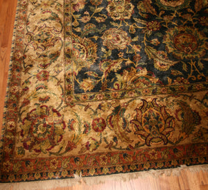 "KALEEN ISFAHAN DELUXE WOOL HAND KNOTTED RUG 8'11"" X 11'7"""