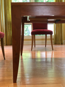 ALAN LORN CUSTOM DINING ROOM TABLE WITH 8 COMPANION CHAIRS