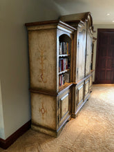 Load image into Gallery viewer, COLONIAL BRAZILIAN HAND PAINTED ARMOIRE WITH MATCHING BOOKCASE ENDS