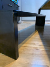 Load image into Gallery viewer, ZEUS' BIG IRONY TABLE AND BENCHES DESIGNED BY MAURIZIO PEREGALLI