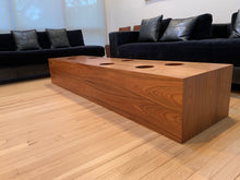Load image into Gallery viewer, MID CENTURY MODERN DESIGNER MOLDED WOOD COCKTAIL / COFFEE TABLE
