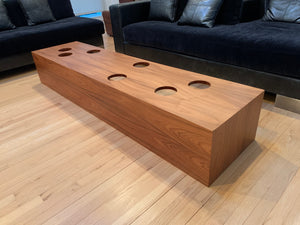MID CENTURY MODERN DESIGNER MOLDED WOOD COCKTAIL / COFFEE TABLE