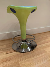 Load image into Gallery viewer, REXITE ZANZIBAR STOOL WITH GAS ADJUSTABLE LIFT IN BRIGHT APPLE GREEN WITH CHROME
