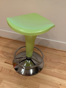 REXITE ZANZIBAR STOOL WITH GAS ADJUSTABLE LIFT IN BRIGHT APPLE GREEN WITH CHROME