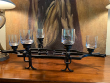 Load image into Gallery viewer, IRON CANDLE HOLDER WITH 6 CANDLE GLASS VOTIVE CUPS