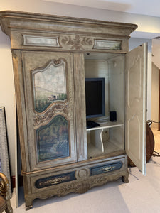 THOMASVILLE'S PAINTED ERNEST HEMINGWAY PARISH COLLECTION ARMOIRE/WARDROBE