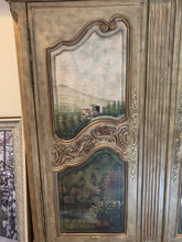 Load image into Gallery viewer, THOMASVILLE'S PAINTED ERNEST HEMINGWAY PARISH COLLECTION ARMOIRE/WARDROBE