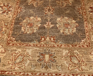 HAND KNOTTED PERSIAN WOOL RUNNER  14 x 3.6
