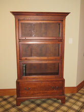 Load image into Gallery viewer, LEXINGTON BARRISTER LIBRARY CABINET WITH 3 GLASS DOOR COMPARTMENTS AND DRAWER