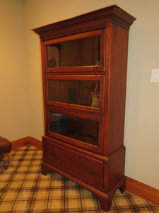 LEXINGTON BARRISTER LIBRARY CABINET WITH 3 GLASS DOOR COMPARTMENTS AND DRAWER