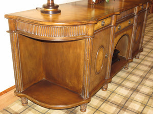 LARGE ITALIAN TUSCAN STYLE BUFFET SERVER IN MIXED WOOD TONES