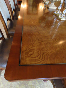FERGUSON COPELAND BLENHEIM RUBBERWOOD - OLIVE ASH BURL WOOD 11' DINING TABLE
