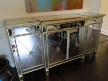 "Load image into Gallery viewer, Z GALLERIE ""REGAL"" MIRRORED BUFFET SIDEBOARD"