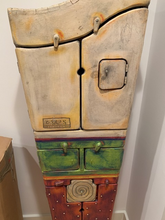 Load image into Gallery viewer, SWEDISH ARTIST CLAES O'ERNGREN WHIMSICAL 6 DOOR HAND PAINTED CABINET