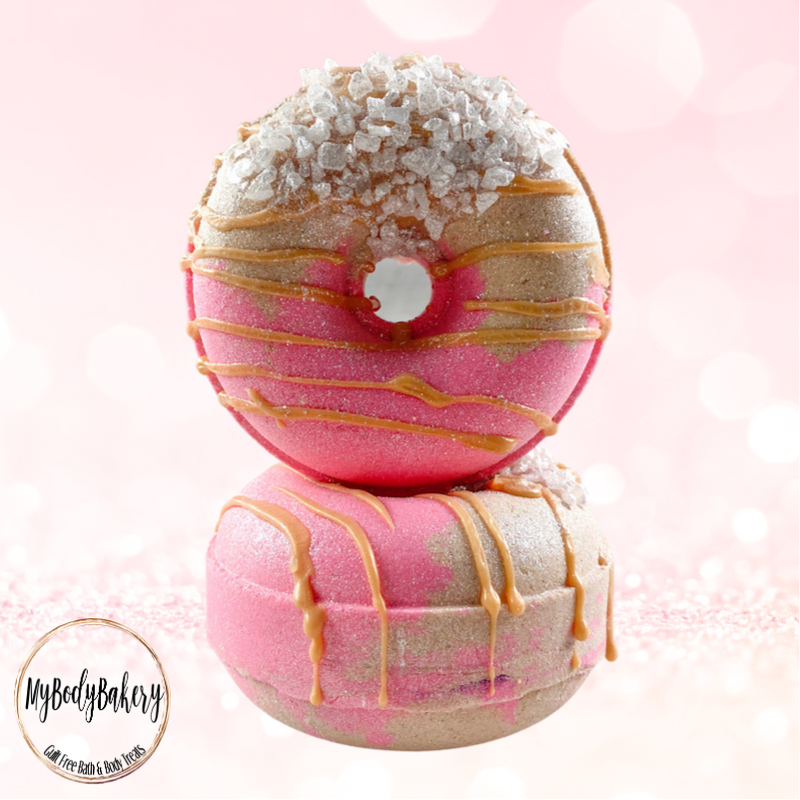 Champagne and Strawberries Donut Bath Bomb