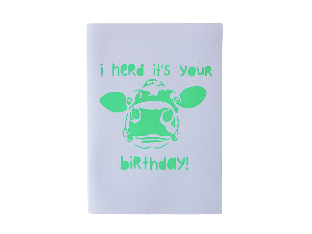 'I herd it's your birthday' card