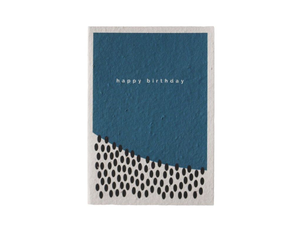Teal Happy Birthday Seeded Gift Card