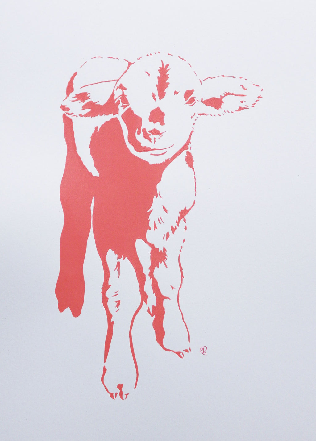 'Sandy the Merino Lamb' Screenprint