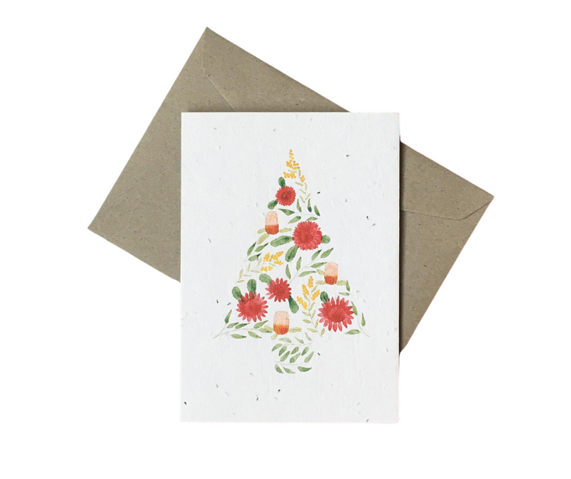 Seeded Christmas Card - 'Jolly Aussie Holiday'