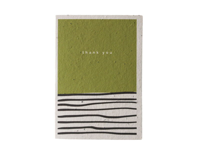 Green Thank You Seeded Gift Card