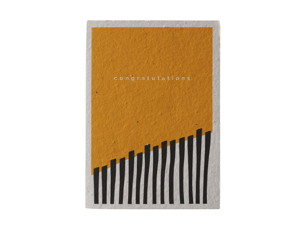 Yellow Congratulations Seeded Gift Card