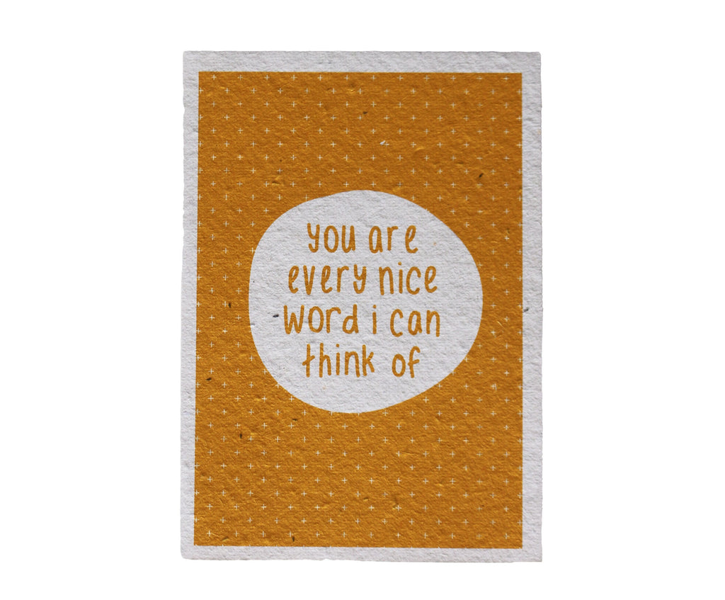 Every Nice Word Seeded Gift Card