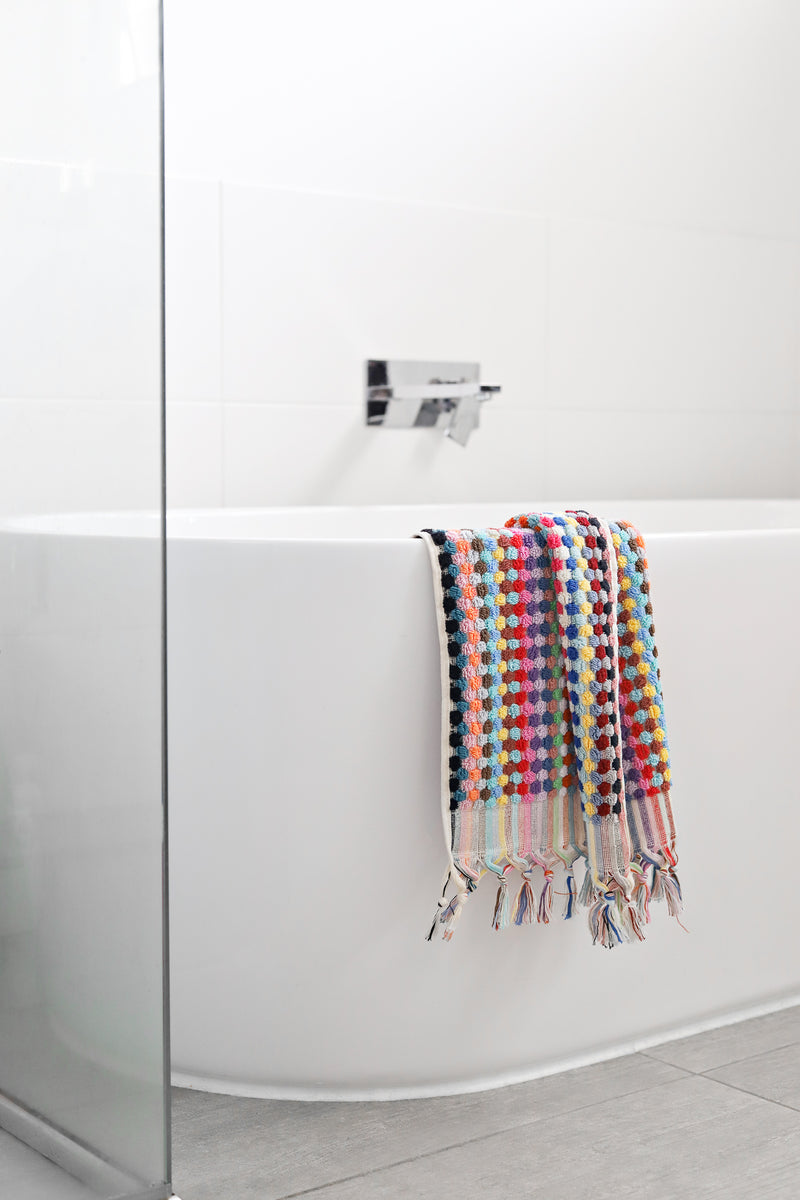 Pom Pom Bath Towel - Multicolour