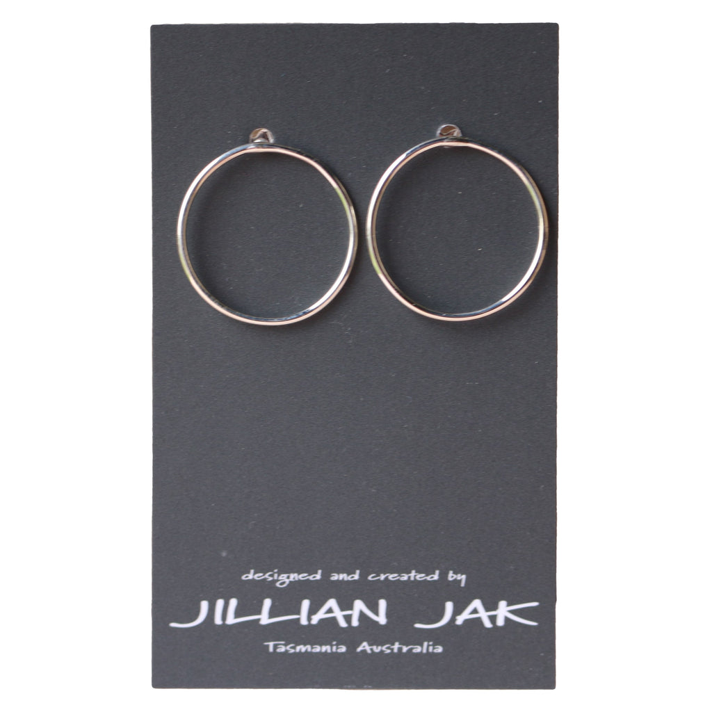 Hand-Drawn Circular Earrings