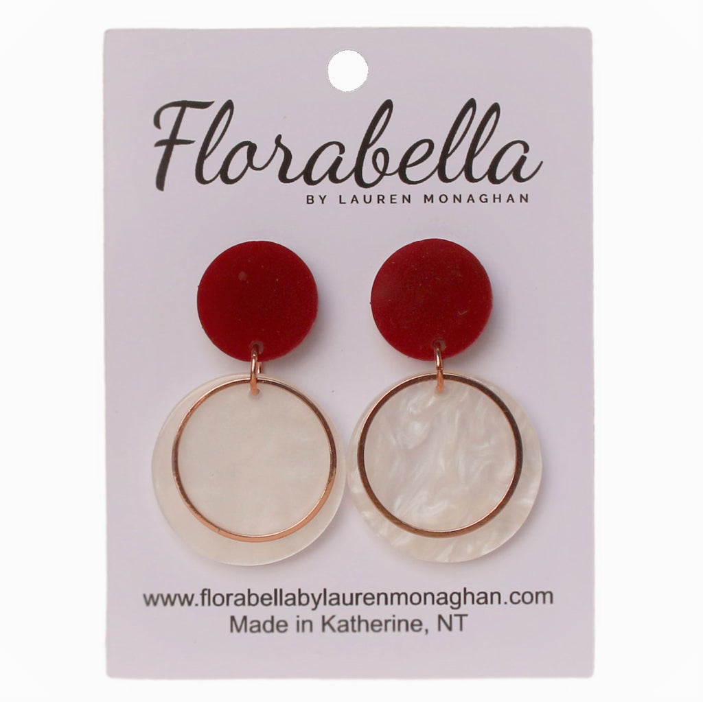 Florabella Red, White & Gold Drop
