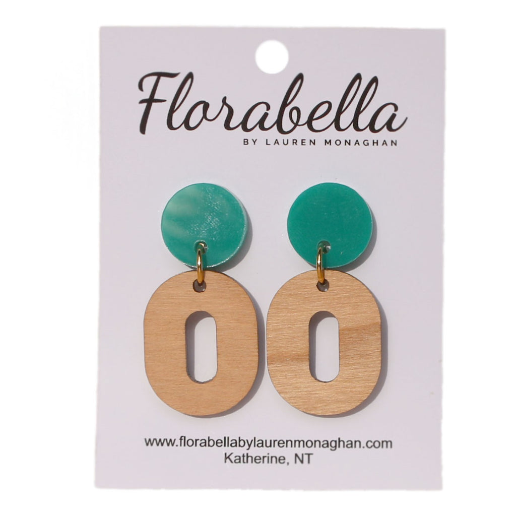 Florabella Light Green and Timber Dangle