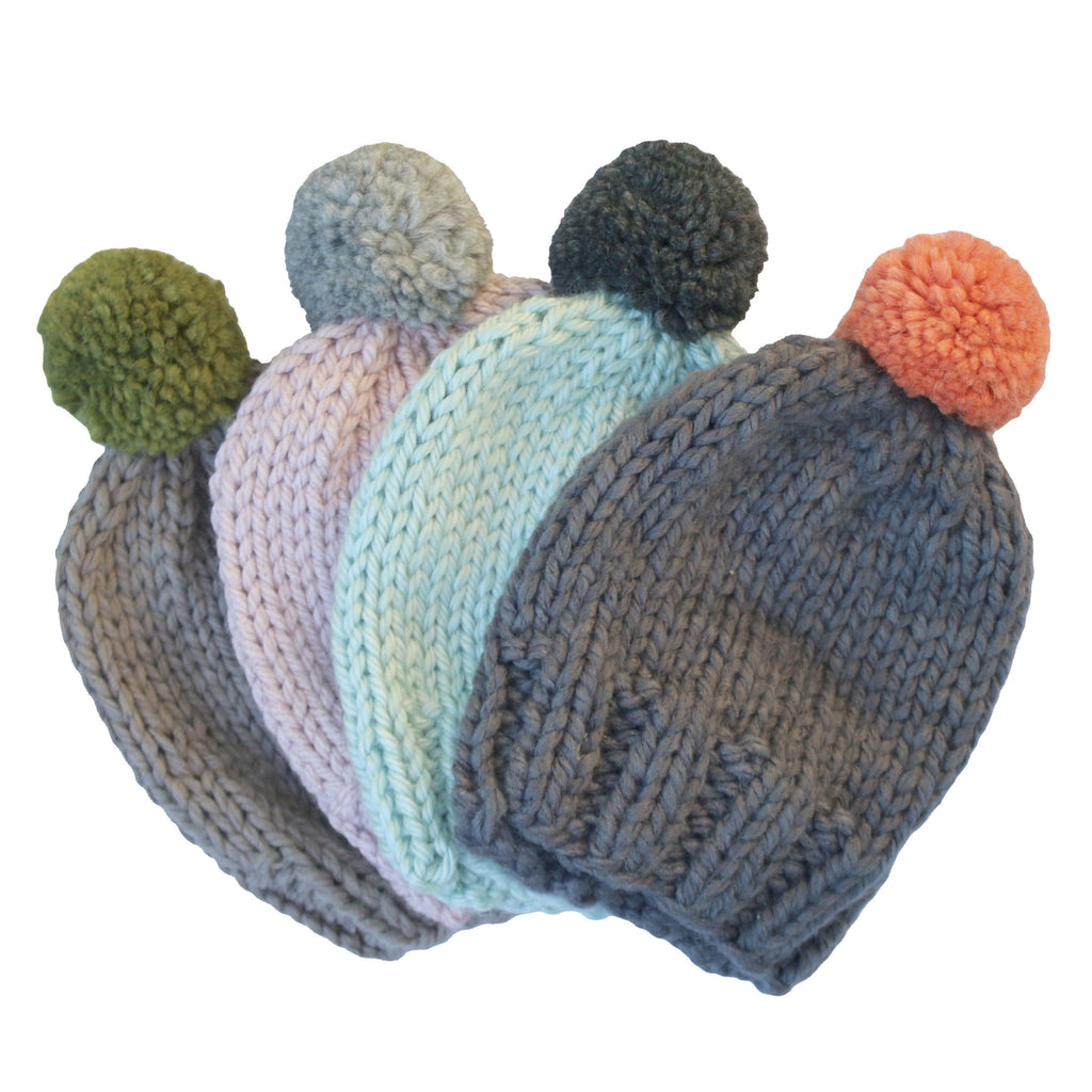 Grown ups Beanie - Dusty Pink and Grey