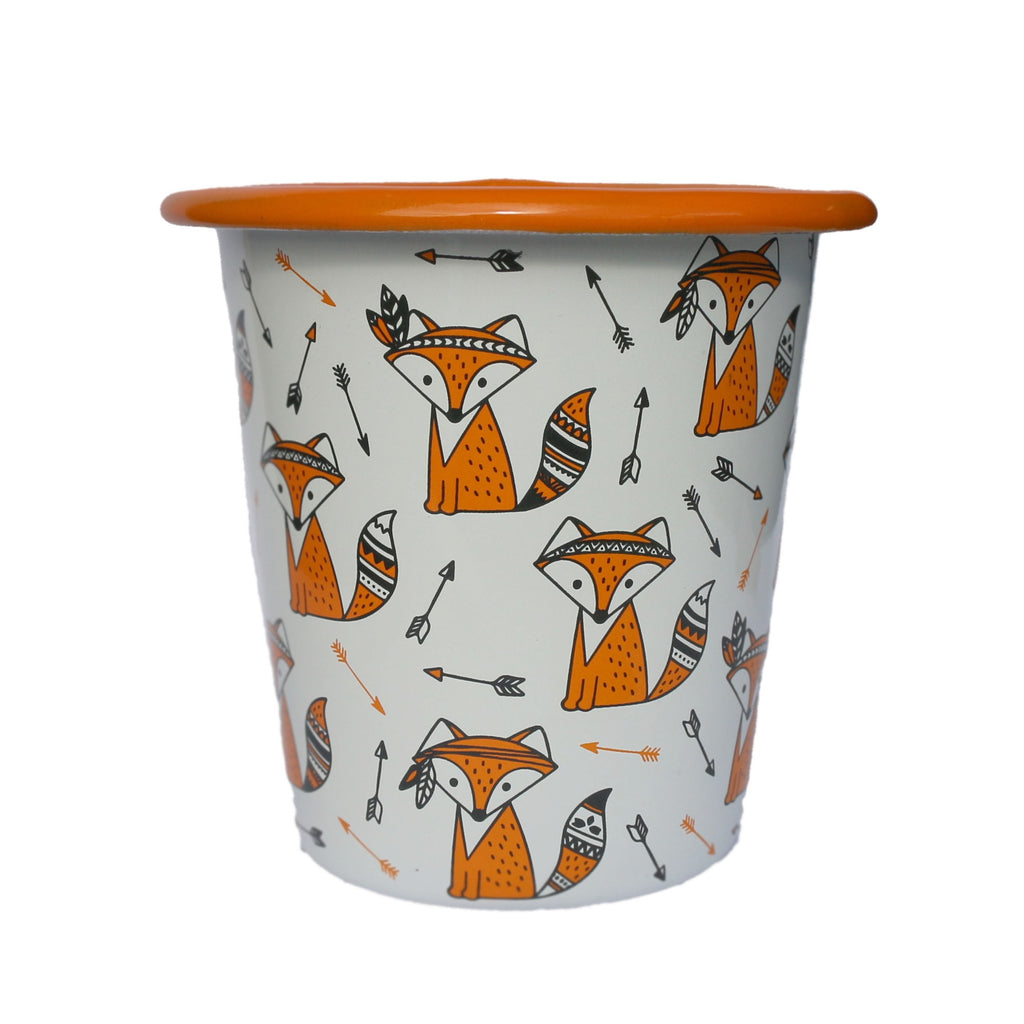 Cute Fox Enamelware set