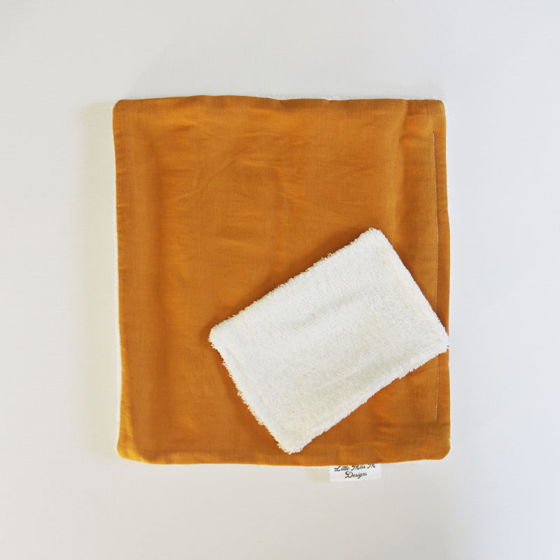 Mustard Reusable Bamboo Wipe