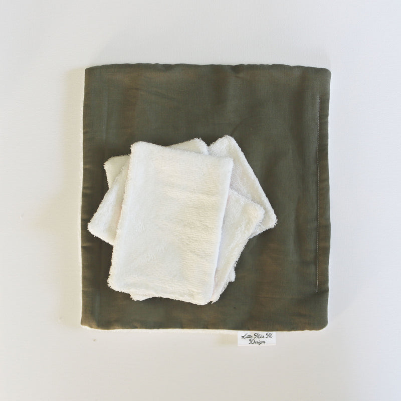 White Banksia Reusable Bamboo Wipes