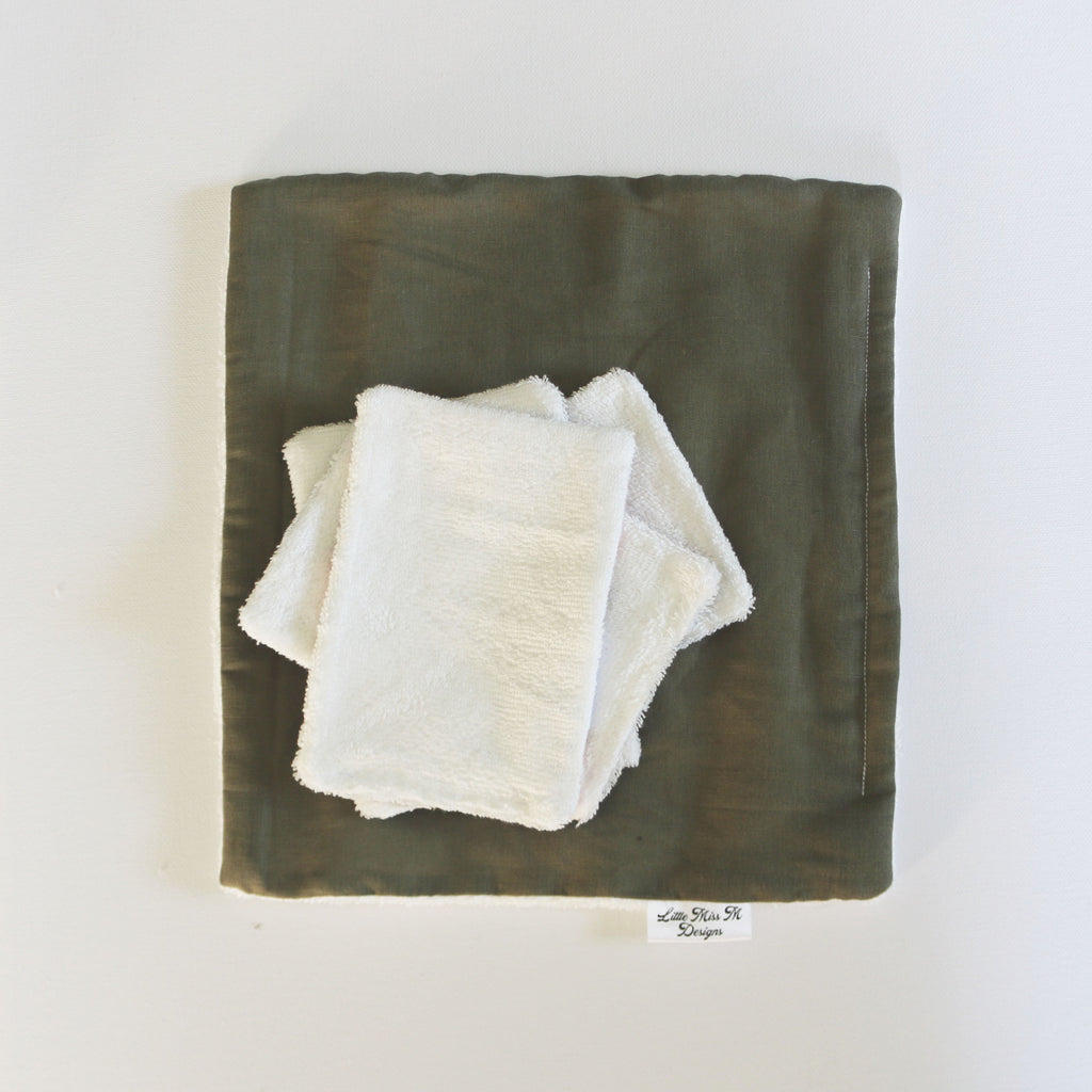 Olive Reuseable Bamboo Wipes
