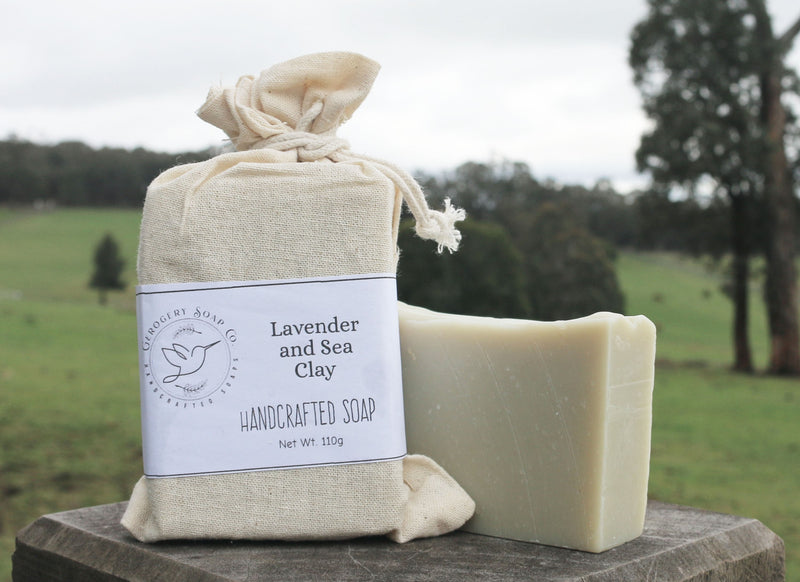 Lavender and Sea Clay Soap Bar