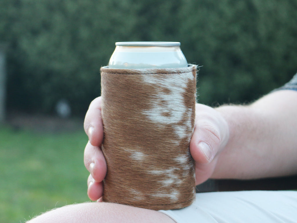 Cow Hide Stubby Holder