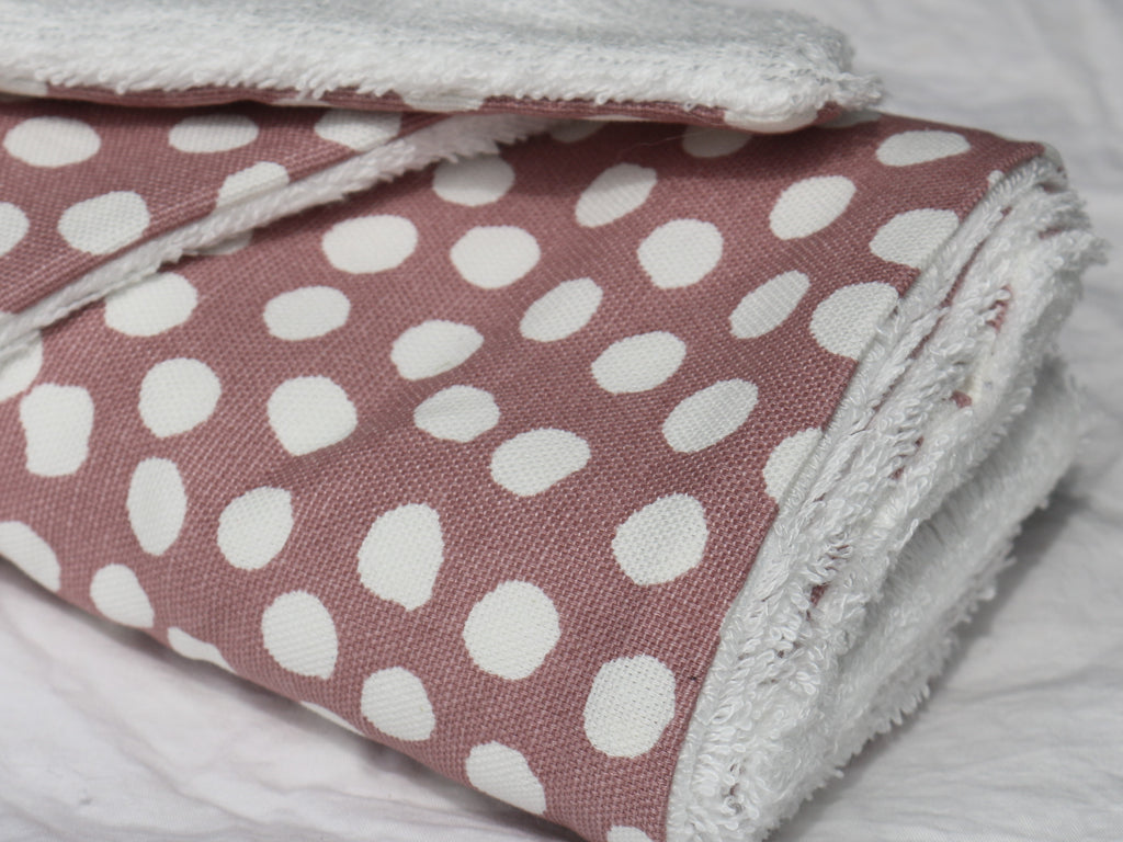 Pink Spot Reusable Bamboo Wipes