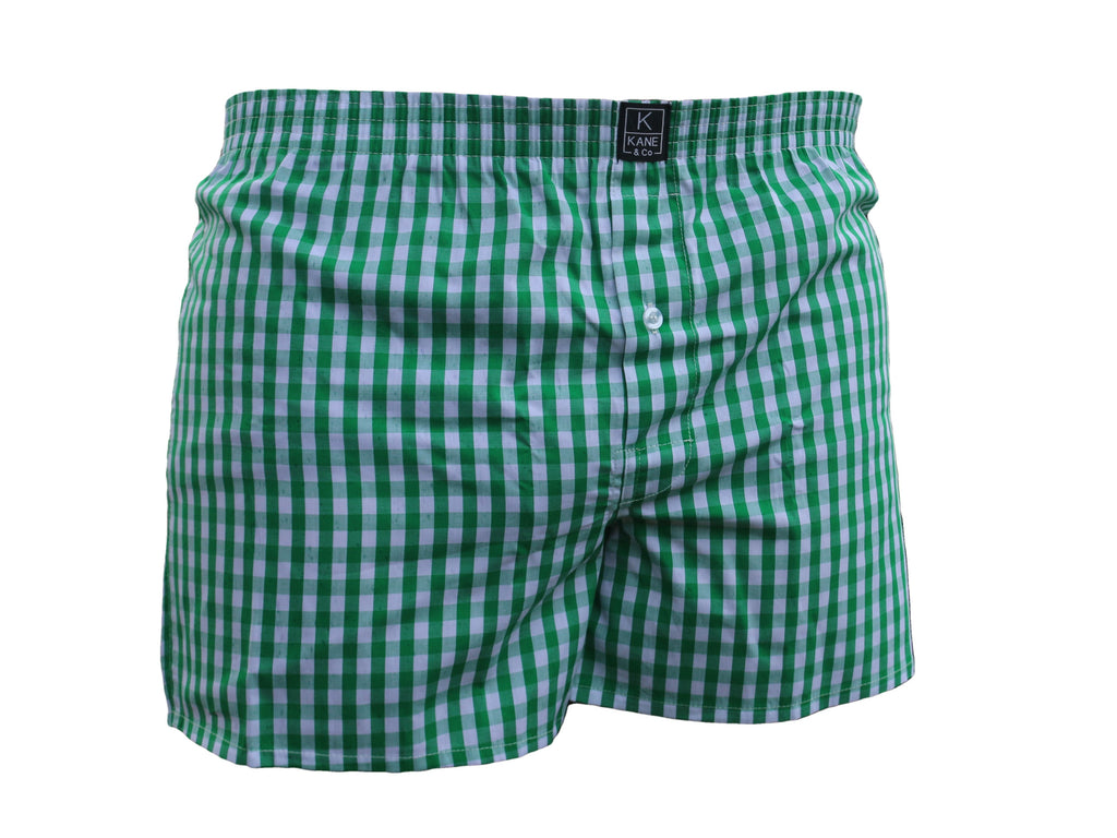 The Classic Boxer - Shamrock Green/White Check