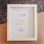 Our First Christmas in our New Home Branches Foil Print