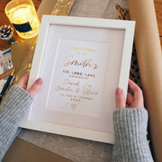 Personalised Christmas Family Home Heart Foil Print