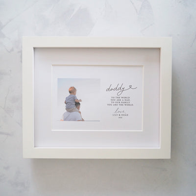 Personalised Daddy 'You are our World' Photo Print