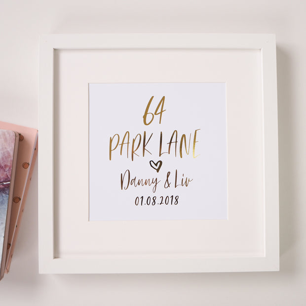Personalised New Home Foil Print