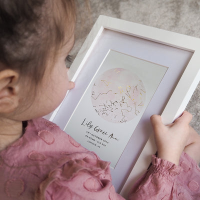 Personalised Star Constellation New Baby Foil Print
