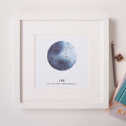 Personalised Star Sign Constellation Foil Print