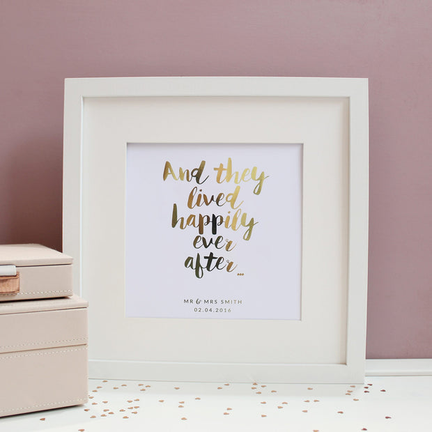 Personalised 'And they lived happily ever after...' Foil Print