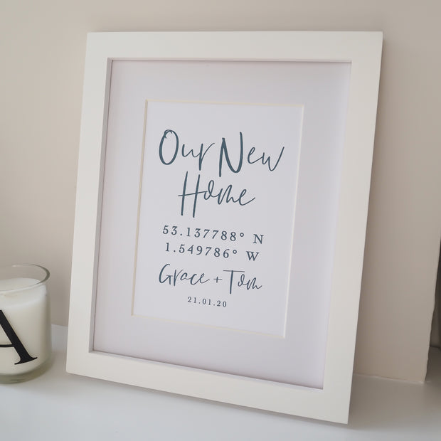 Personalised 'New Home' Coordinates Print