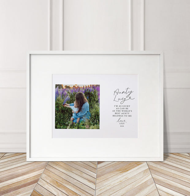Personalised 'World's Best Aunty/Auntie' Photo Print