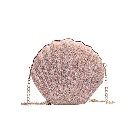 Pink Sea Shell Clutch