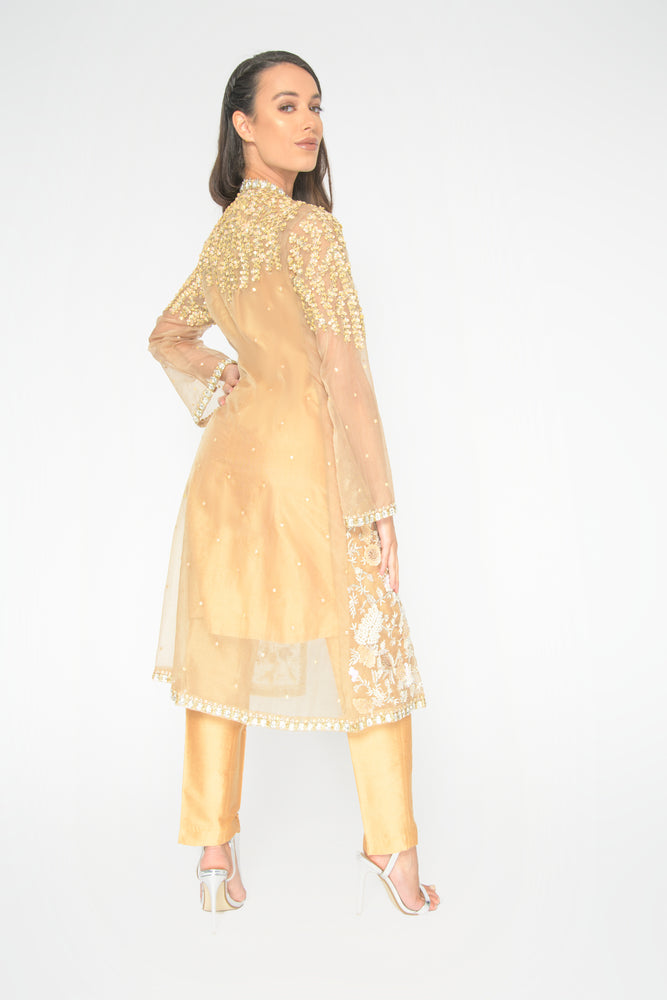 Gold Riannah Jacket Suit